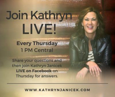 Join Kathryn Janicek Live Every Thursday on Facebook at 1pm Central
